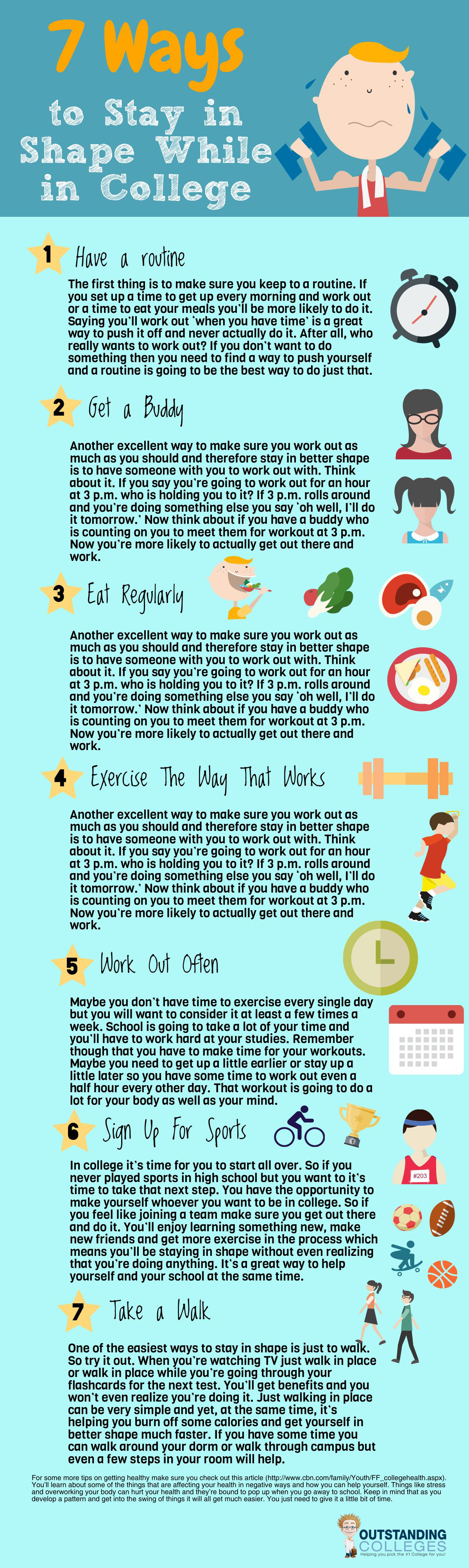 ways to stay in shape while in college keep in mind that as you develop a pattern and get into the swing of things it will all get much easier you just need to give it a little bit of time
