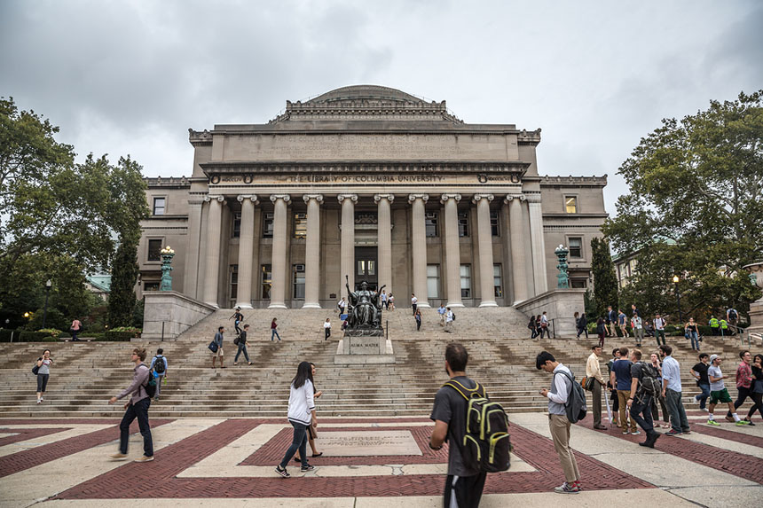 Library Of Columbia University, New York City, Usa